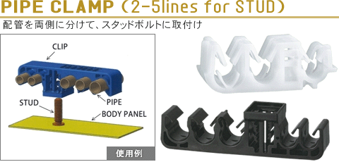 PIPE CLAMP (2-5lines for STUD)