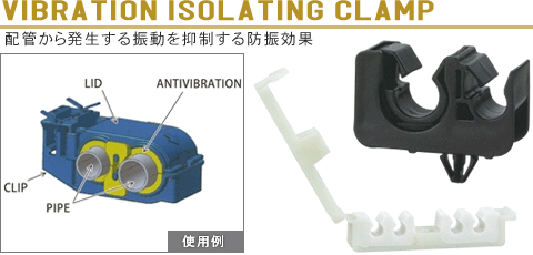 VIBRATION ISOLATING CLAMP